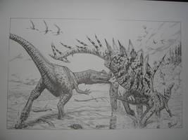 ceratosaurus vs miragaia by maiorz