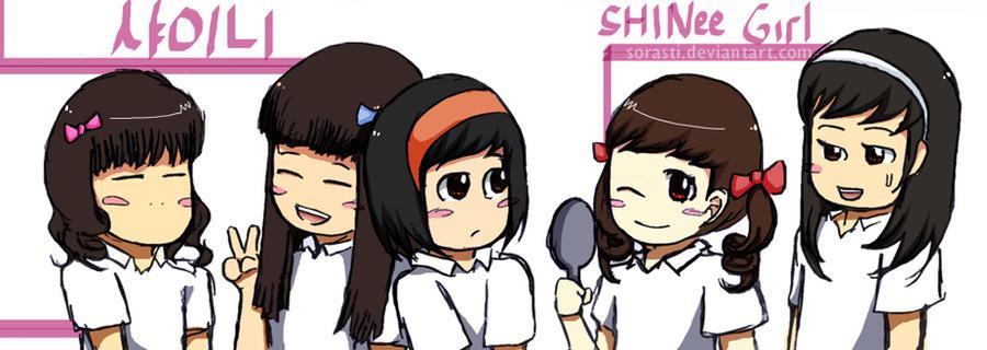 SHINee girl chibi by sorasti on DeviantArt | 900 x 320 jpeg 79kB