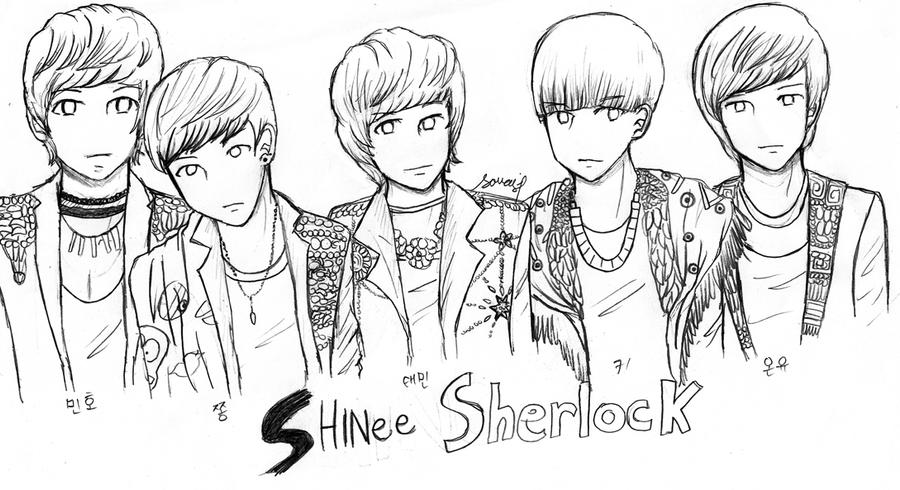exo coloring pages   Exo Chibi Fan Art Sketch Coloring Page