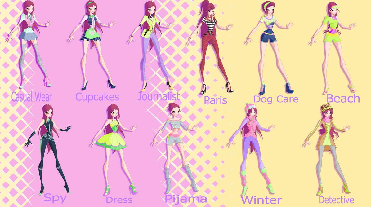 World Of Winx S1 Roxys Wardrobe By Gerganafen On DeviantArt