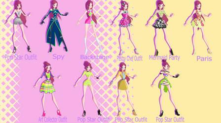World of Winx 2: Roxy's wardrobe by Gerganafen