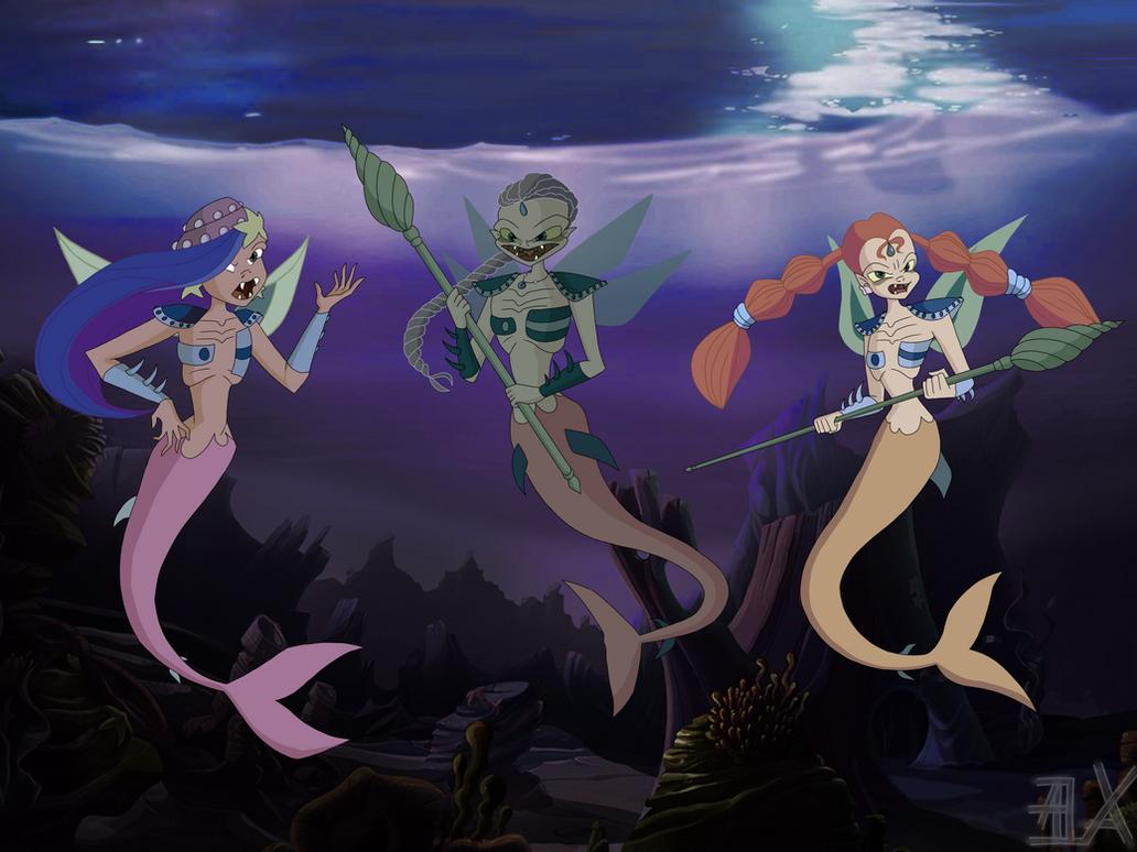 The Descendants: Eleonore's mer-monsters by Gerganafen