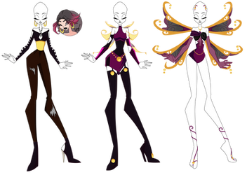 Winx OC: Earth, Fairy of Auras and Souls - outfits by Gerganafen