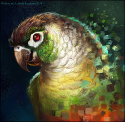 Digital bird by Red-IzaK