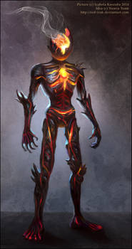 Magma creature concept
