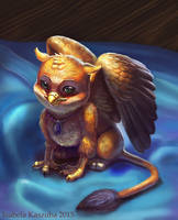 Toy gryphon by Red-IzaK
