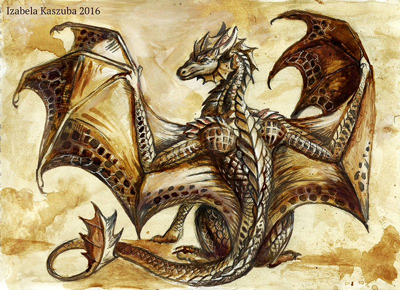 Coffee Dragoness by Red-IzaK