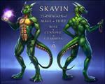 Skavin Reference Sheet by Red-IzaK