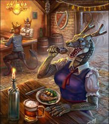 Very hungry dragon maid by Red-IzaK
