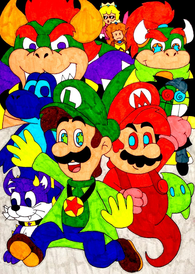 mario and luigi brothers of the stars tribute by iwatchcartoons715