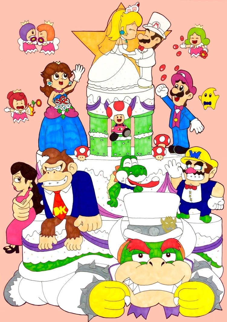 Mario and Peachs big wedding day by Iwatchcartoons715 on