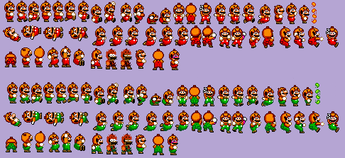 Super Mario World Halloween-Pumpkin Mario by Iwatchcartoons715