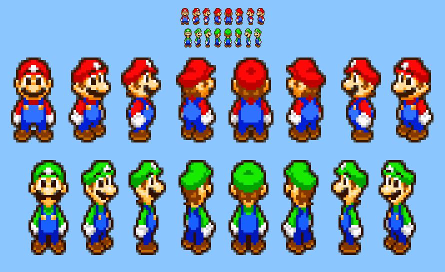Mario And Luigi Superstar Saga Sprites Redesigned By