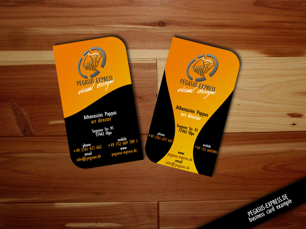 Business Card Example 001 by Pegasus Express on DeviantArt