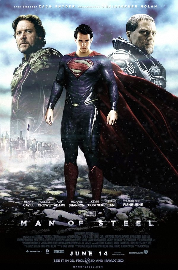 Man of Steel (2013) - Poster #2 by CAMW1N on DeviantArt
