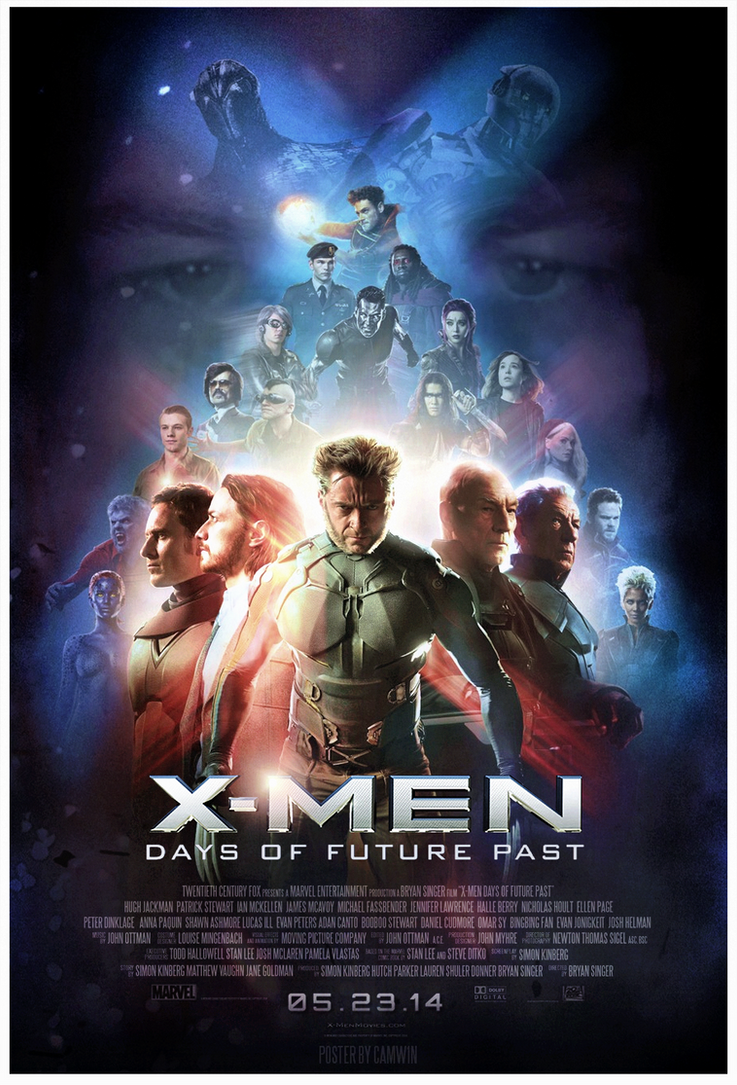 XMen Days of Future Past 2014 Poster by CAMW1N on