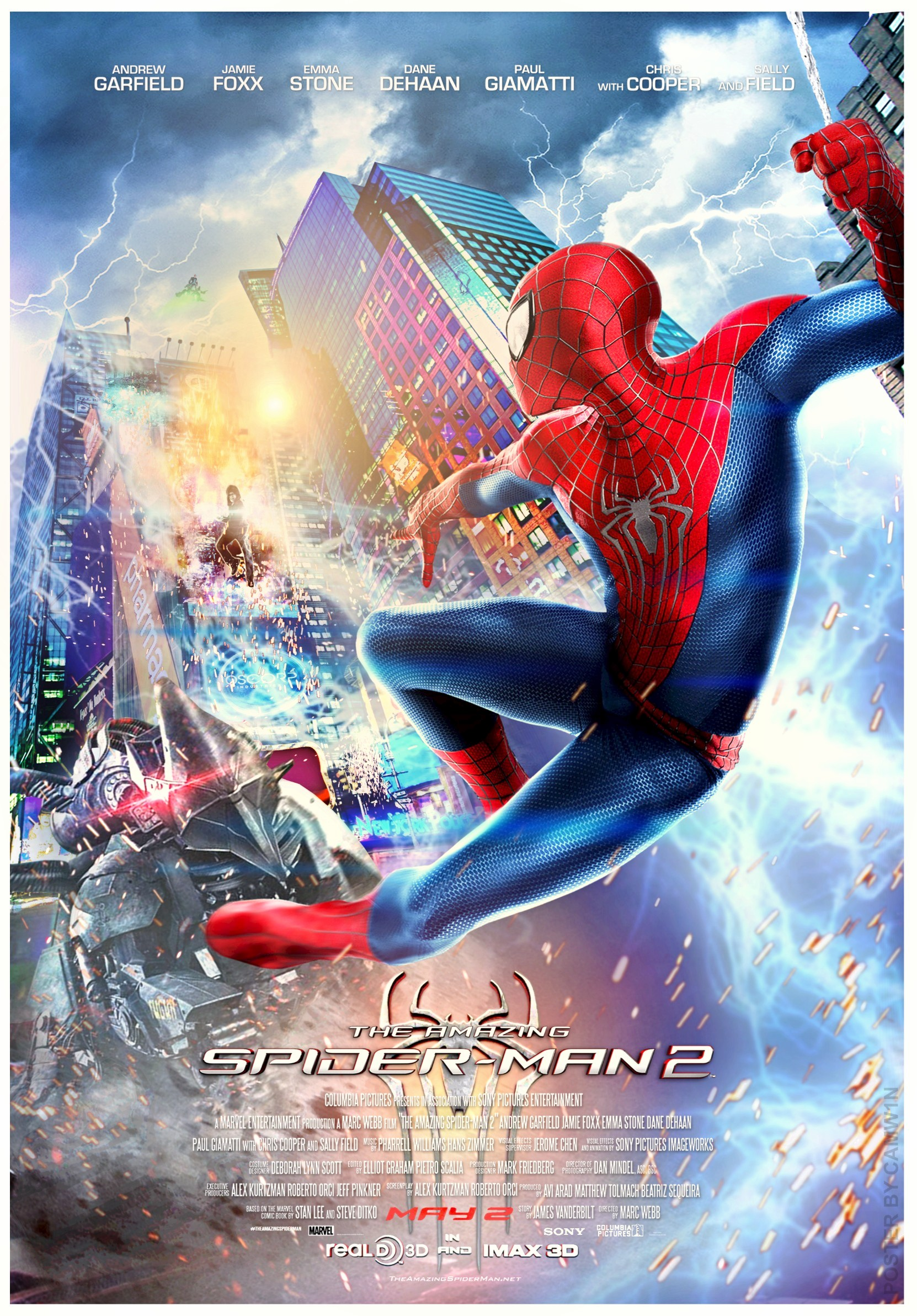 The Amazing SpiderMan 2  Movie Poster Spidey Leaping