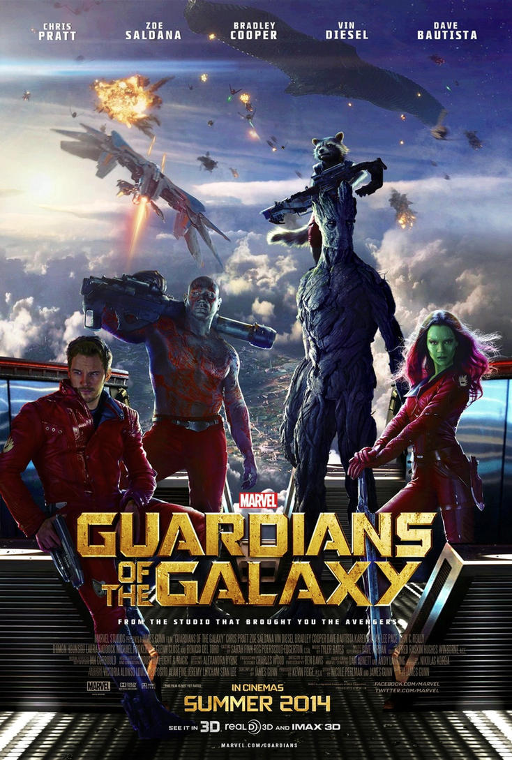 Guardians of the Galaxy (2014) - Theatrical Poster by CAMW1N