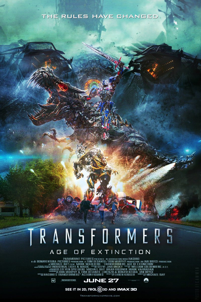 Transformers: Age Of Extinction (2014)  Poster By Camw1n