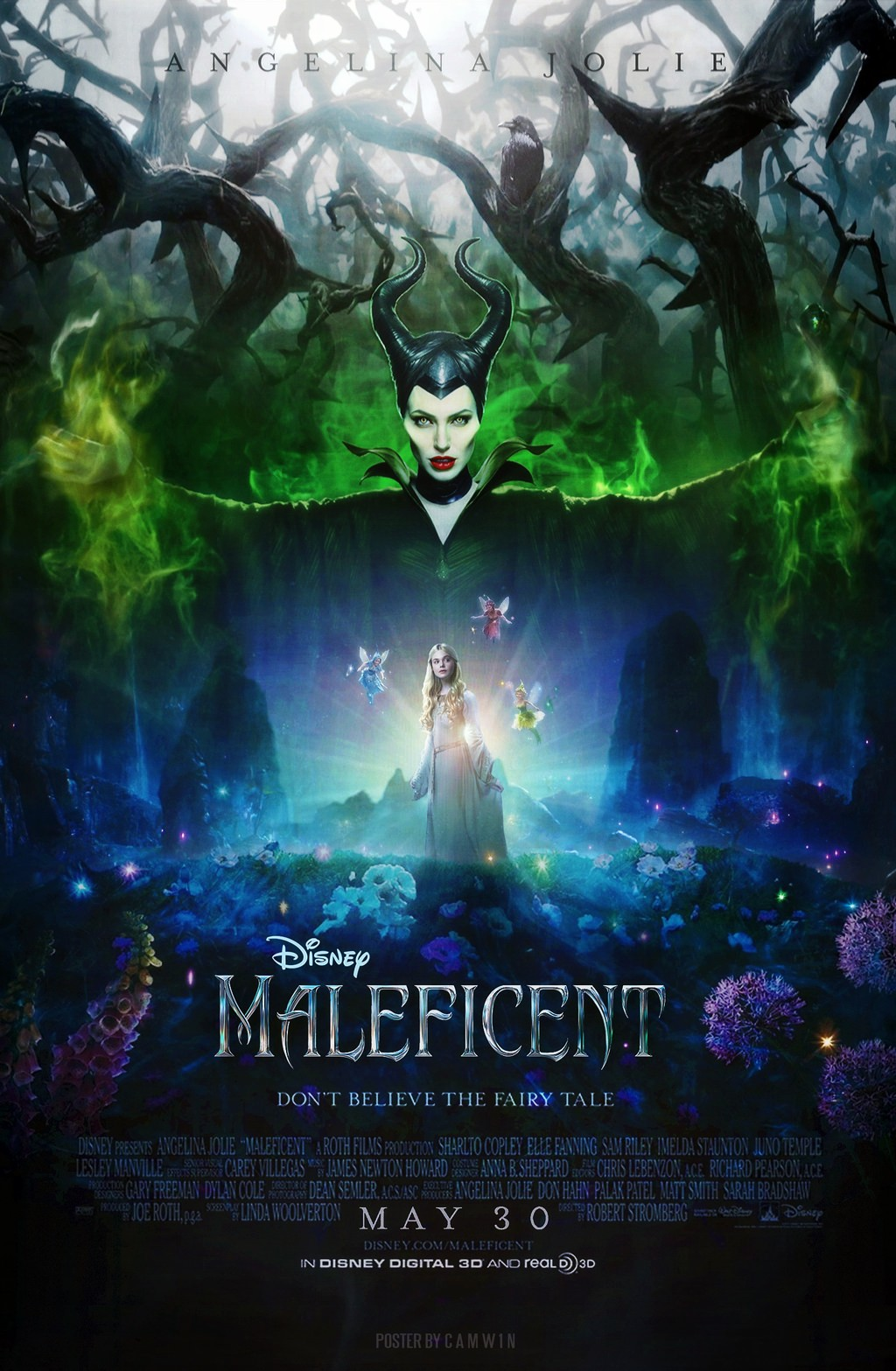 Maleficent 2014 Poster By Camw1n On Deviantart