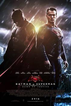 Batman V Superman Dawn of Justice Poster by CAMW1N