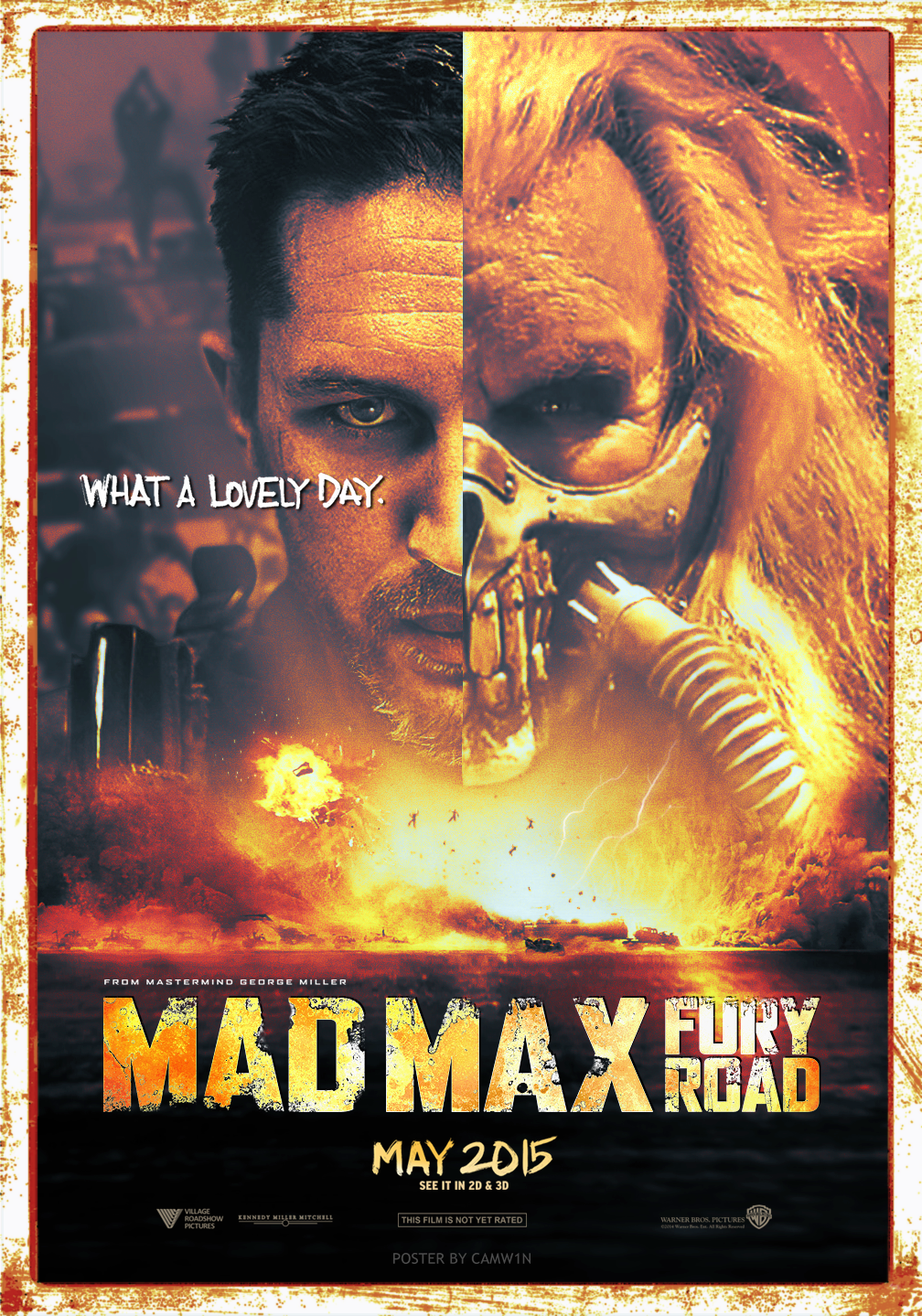 Mad Max Fury Road 2015 Poster By Camw1n On Deviantart