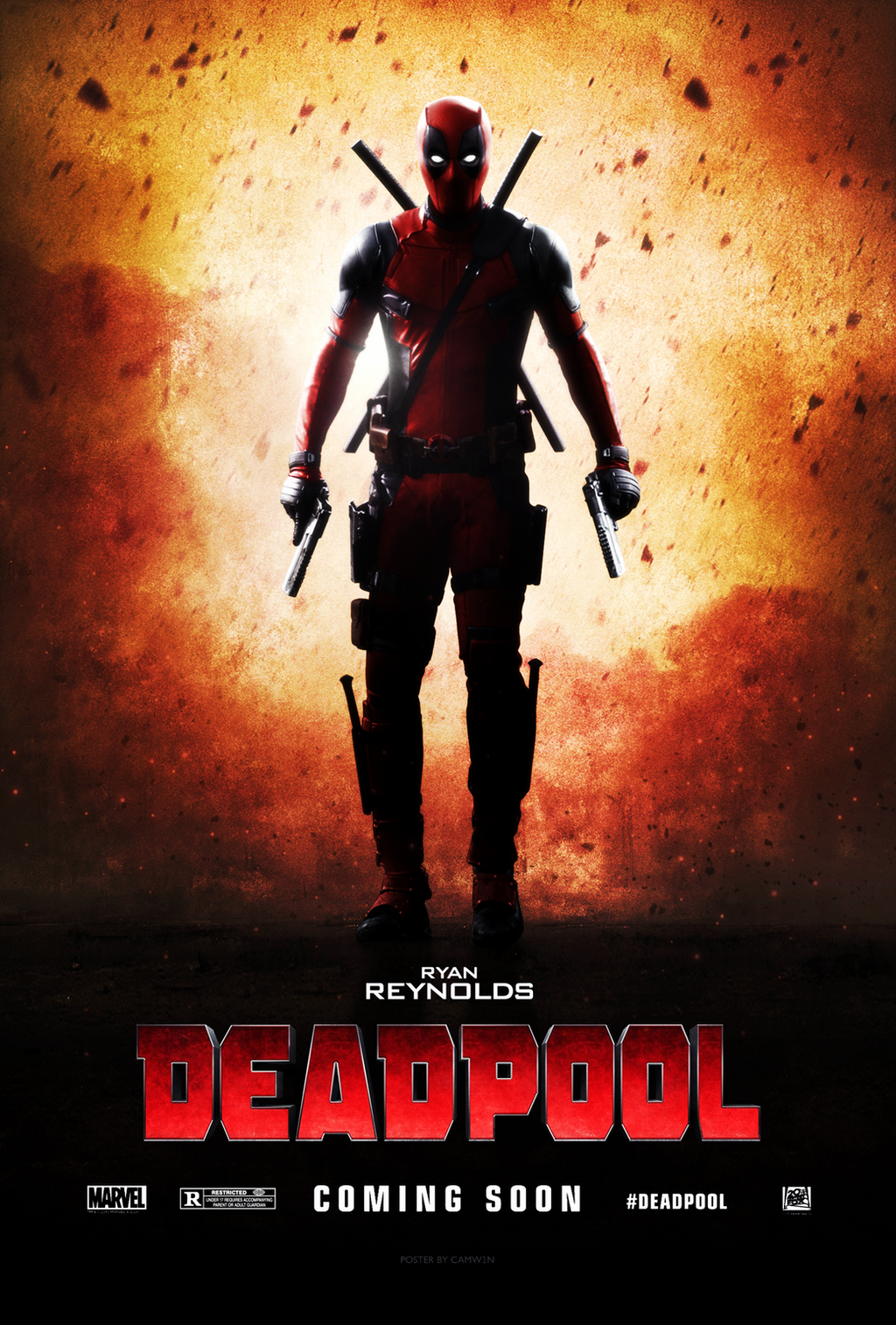 Deadpool (2016) - Teaser Poster by CAMW1N on DeviantArt
