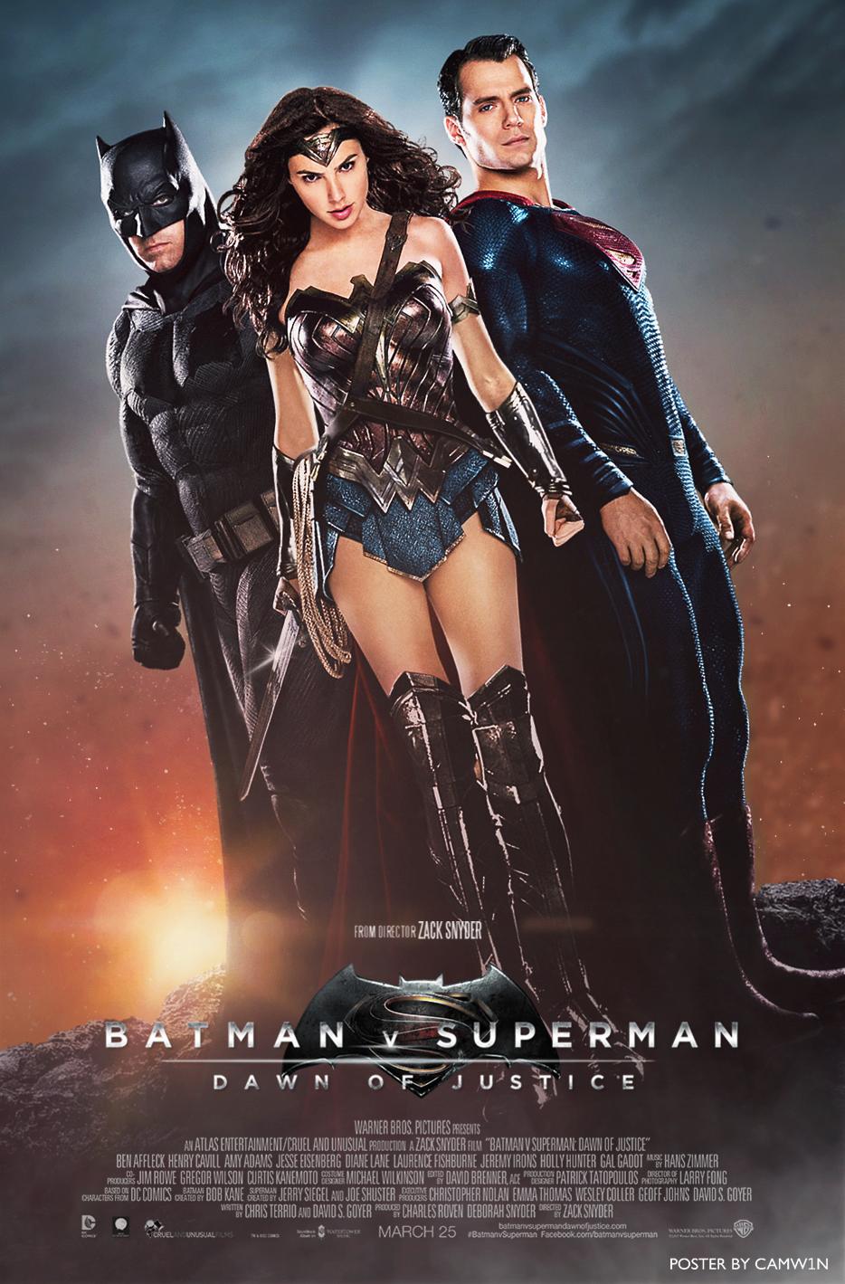 Batman V Superman - Trinity Poster A by CAMW1N