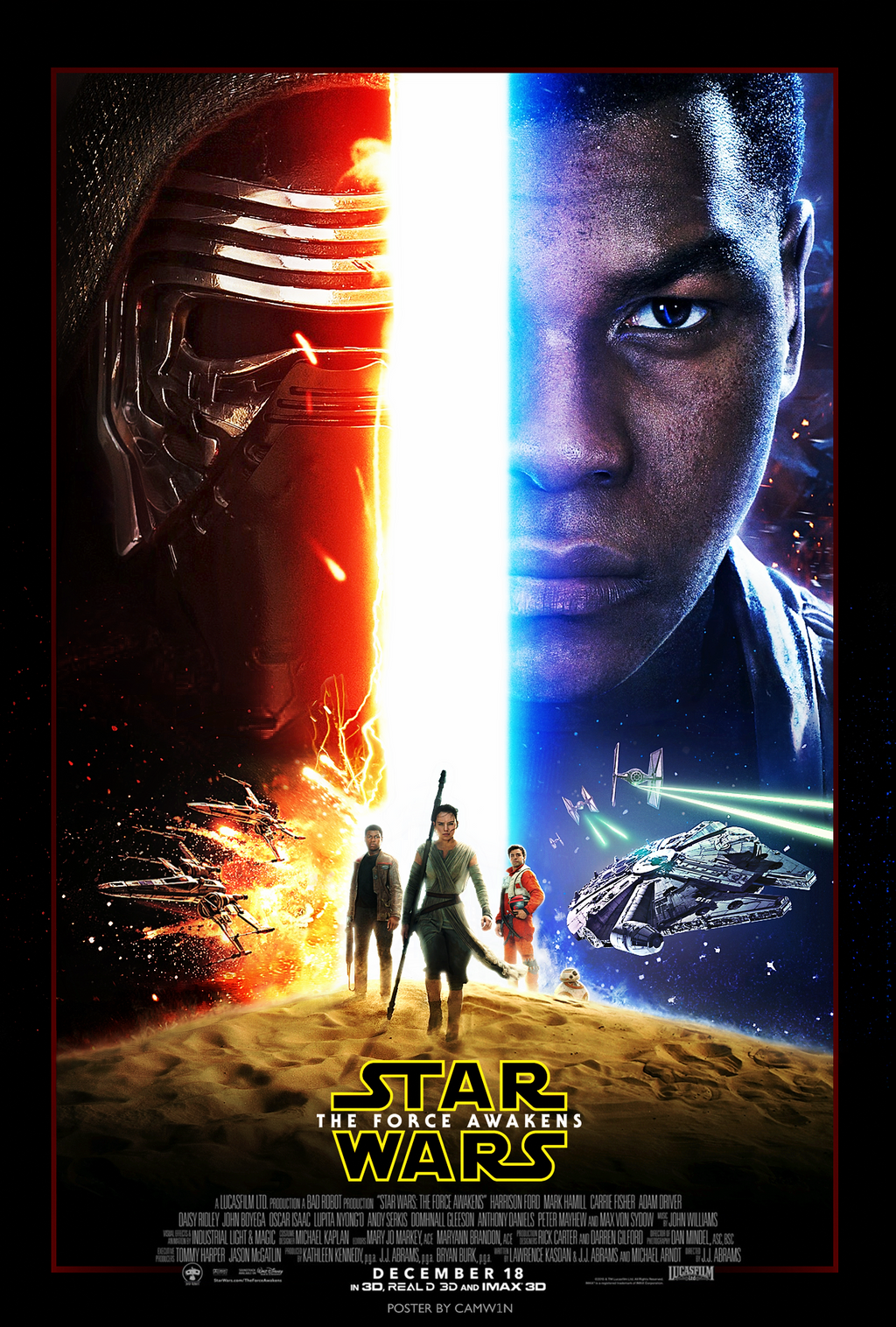 star wars: the force awakens (2015) - poster by camw1n on deviantart