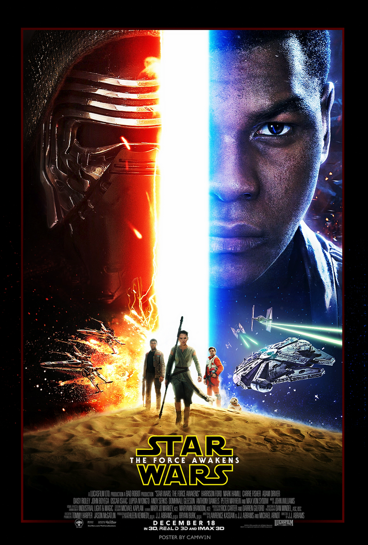 star wars the force awakens 2015 poster by camw1n on deviantart