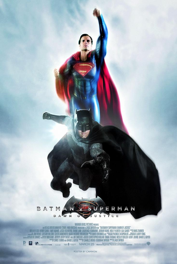 Batman V Superman (2016) - Day vs Night Poster 2 by CAMW1N ...