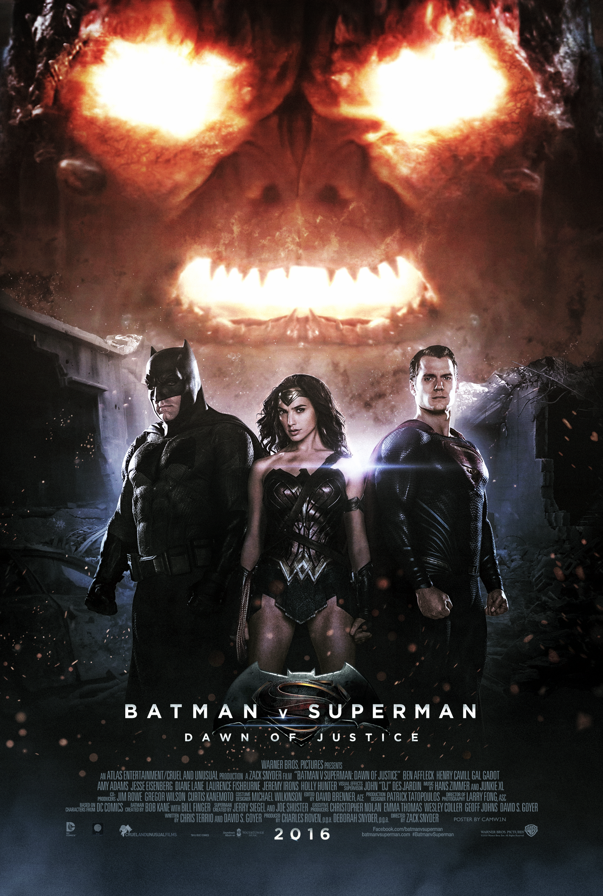 Batman V Superman 2016 Doomsday Poster By Camw1n On Deviantart