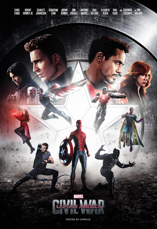 Captain America Civil War 2016 Poster 4 By Camw1n On Deviantart