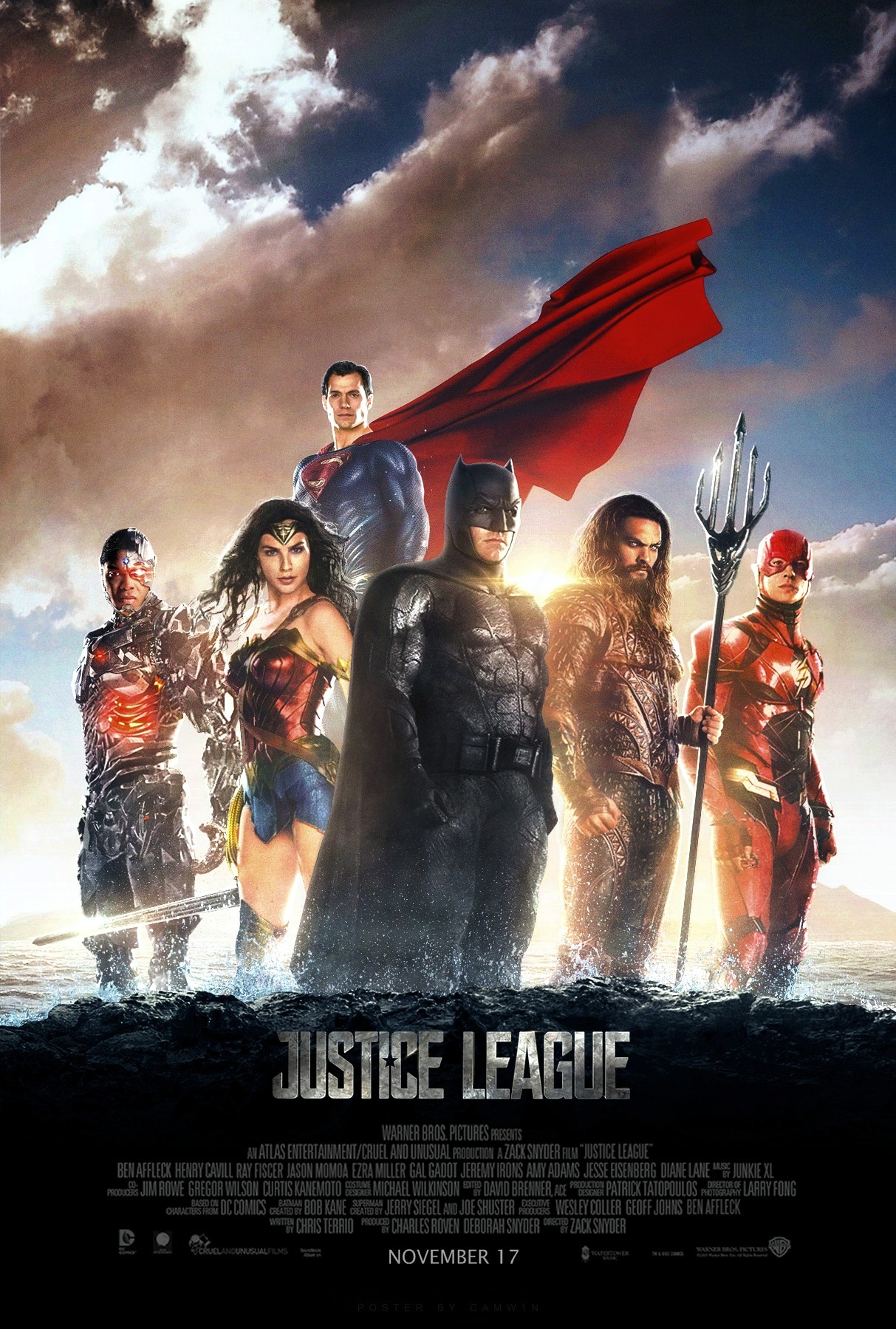 Justice League (2017) - Poster #2 by CAMW1N on DeviantArt