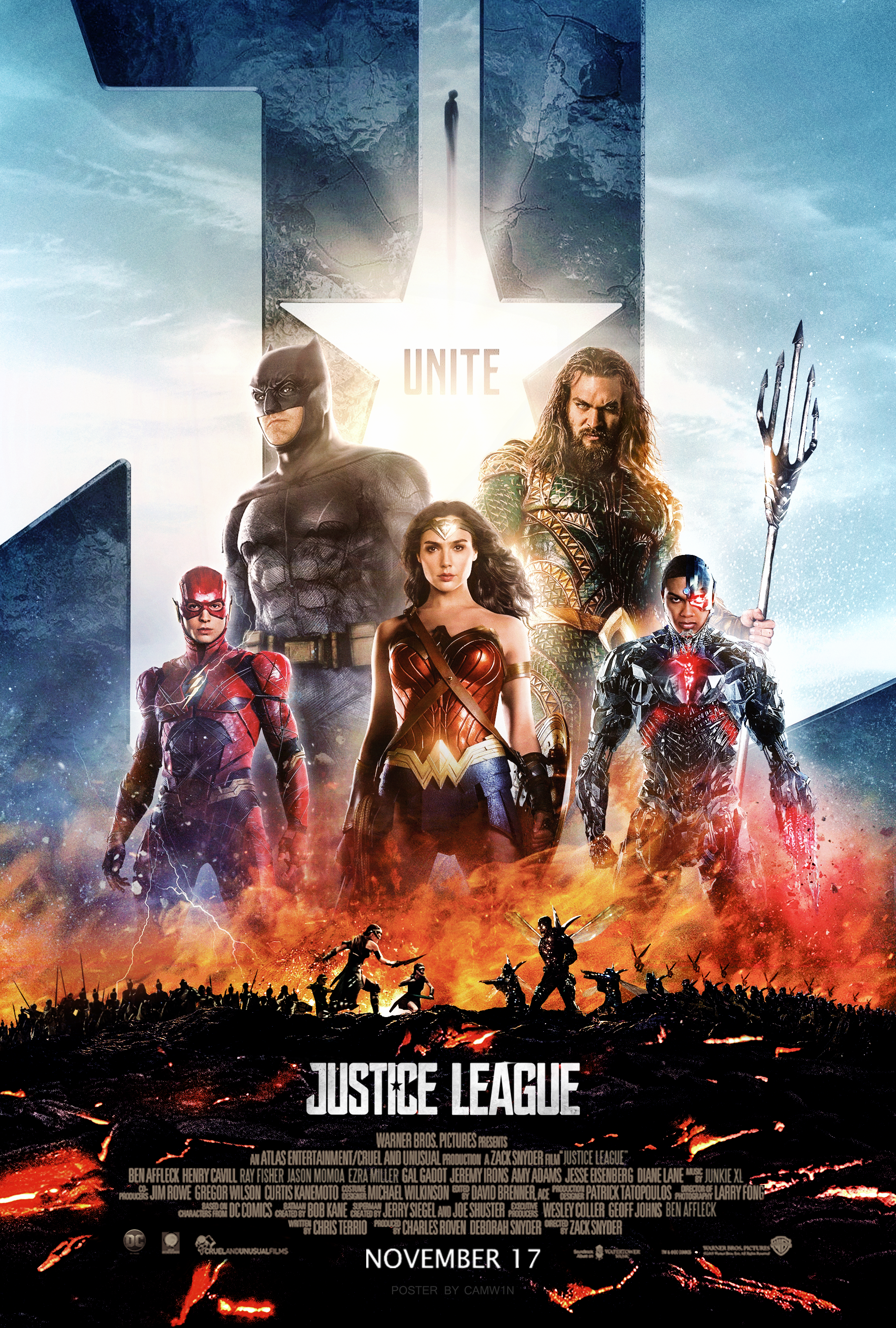 Justice League 2017 Poster 3 By Camw1n On Deviantart