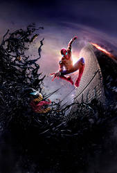 Spider-Man Vs. Venom Poster by CAMW1N