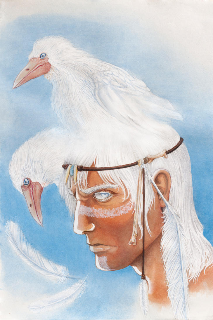 White crow by Bug-zilla