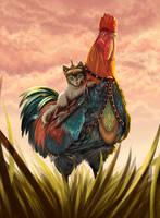 Turkish kitty rider by Bug-zilla