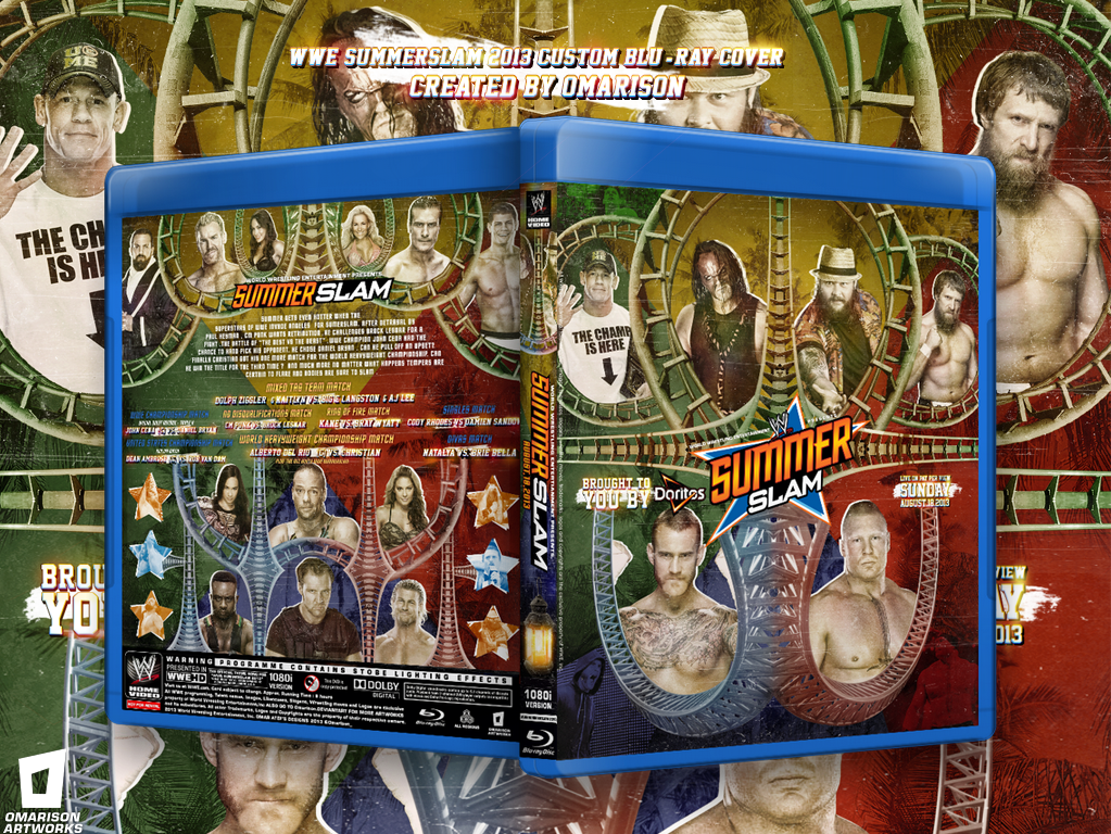 2014 WWE SummerSlam Blu-ray Cover