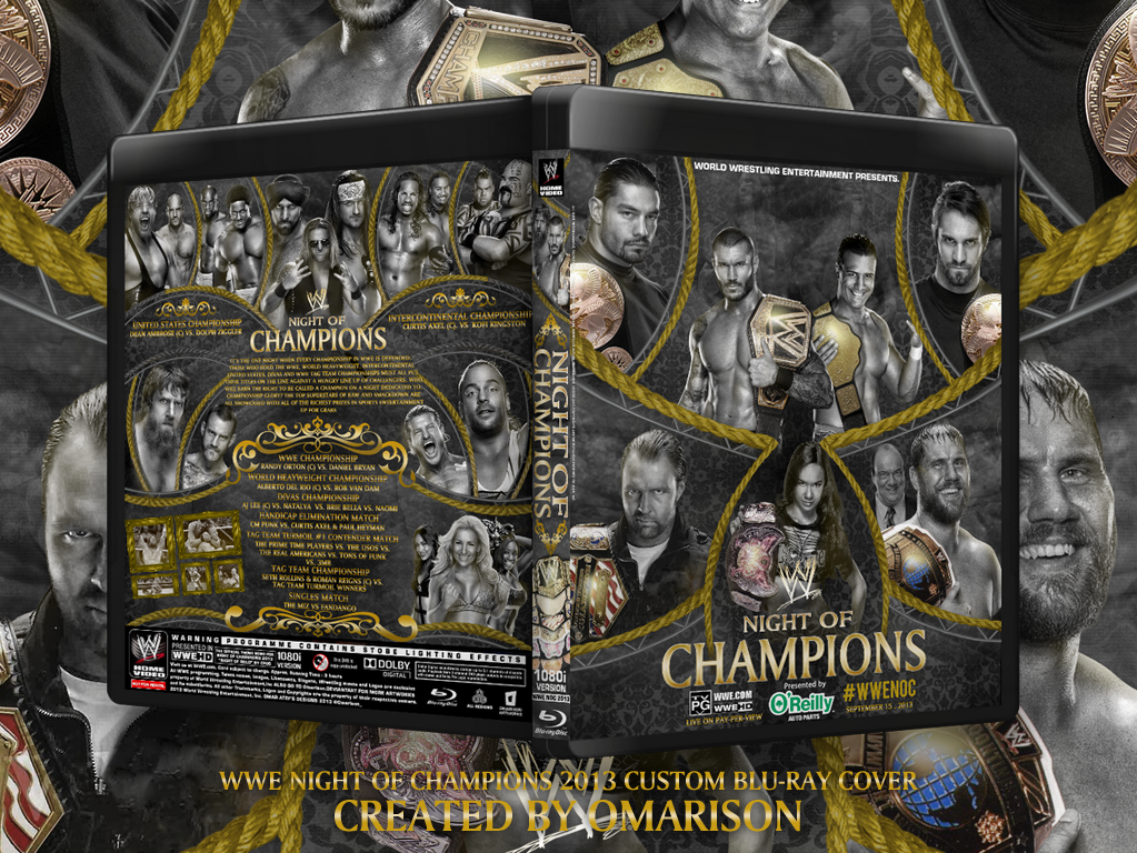 WWE Night Of Champions 2013 Blu-Ray Cover by Omarison