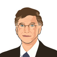 Bill Gates vector portrait