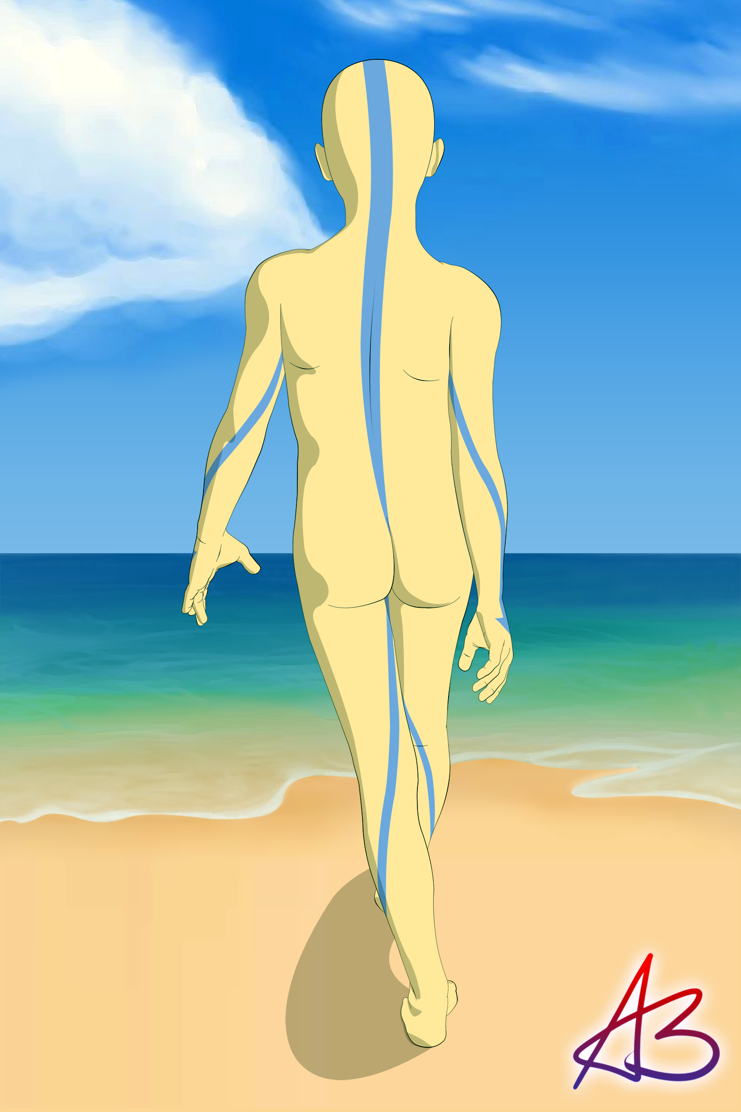 Avatar The Last Airbender Naked aang goes swimmingandrewbadger on deviantart