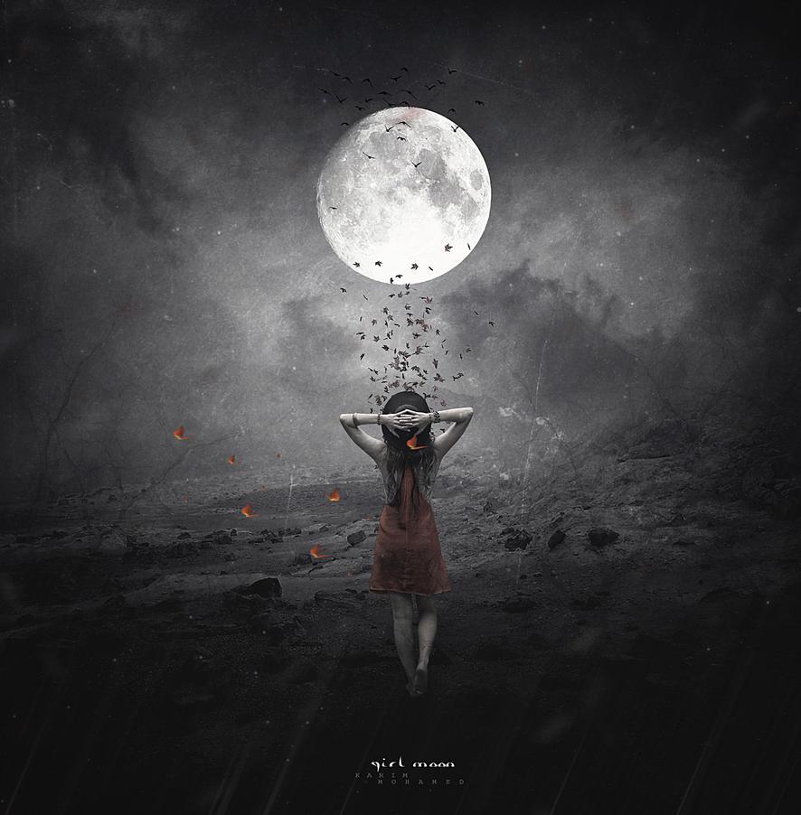 Girl Moon by kimoo0
