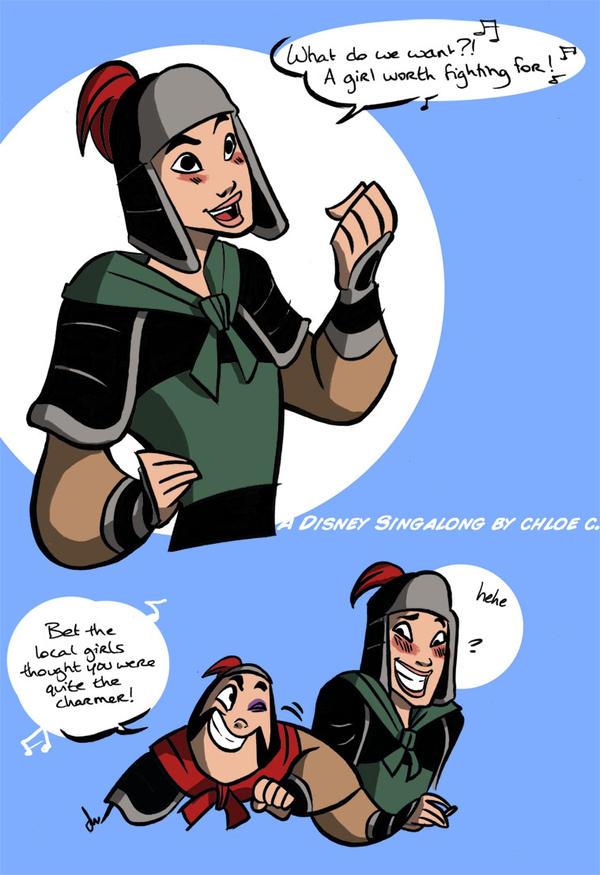Lyric lyrics for a girl worth fighting for : Mulan the MAN by chlove-art on DeviantArt
