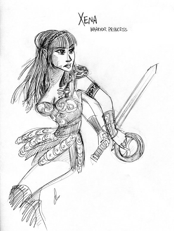 Xena warrior princess by batlesbo on deviantart Xena coloring book