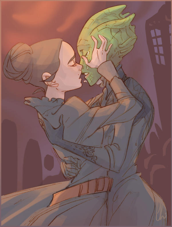 Let Vastra kiss her wife by batlesbo