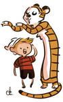 Finn and Hobbes--er by chlove-art