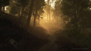 Evening fog (3D render)