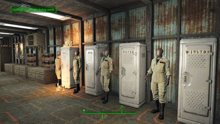 Ghostbusters in Fallout 4 - Locker Wall by MrLively