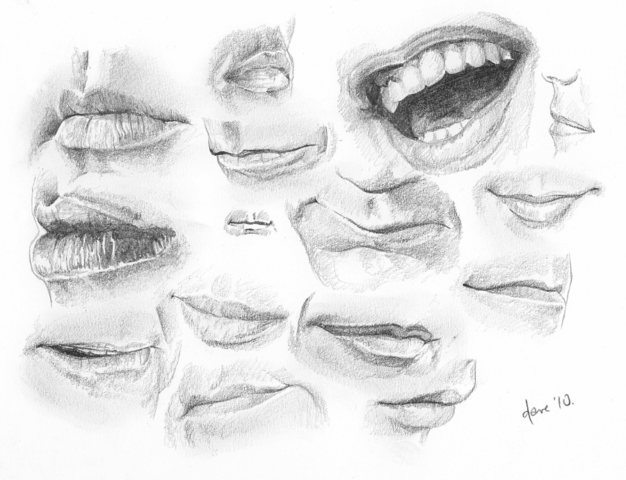 how to draw realistic male lips